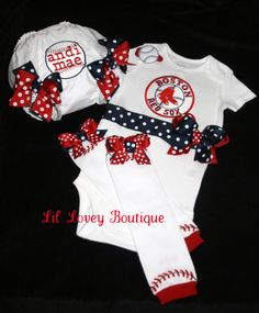 "Batter Up For Baseball Season...Adorable 3PC. Short Sleeve ""Team Spirit"" Onesie/Bloomers/Leg Warmers For Baby Girl or Toddler"