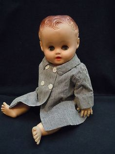 Vintage 1956 Sun Rubber Co Brown Eyes Cry Baby Squeaker ...