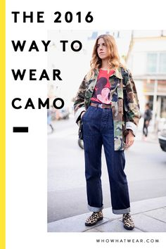 How to wear camo print in 2016