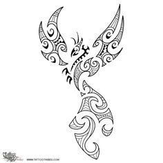 Fire Maori Style Phoenix Tattoo