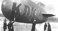 This is the KDKA blimp, which was widely used to increase the distance KDKA's radio signal could travel.