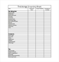 13 best food inventory template images on pinterest in 2018 sample