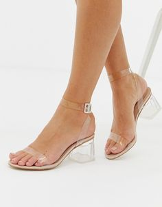 Discover a range of high heels with ASOS. Fromt black heels to bright silver, browse our range of classic peep toes, pumps or strappy sandals from ASOS. Heeled Loafers, Pumps Heels, High Heels, Heeled Sandals, Nude Heels, Low Heel Shoes, Stiletto Heels, Clear Block Heels, Clear Heels