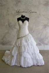 Fabulous fit and flare wedding dress with gorgeous beading. Only $599