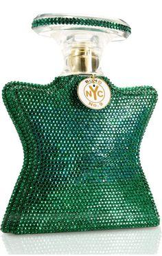 @T..... P - Saks Fifth Avenue, New York  Fragrance Store. Bond #9 - Crystal Encrusted Emerald Bottle