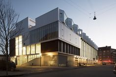 SH2-Sundbyoster Hall II is mixed use architecture integrating grocery store, sports hall and housing units in one building located in the district of Amager in Copenhagen, Denmark. It is a visionary solution for building in dense and complicated city e...