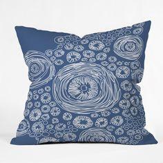 Julia Da Rocha Bluflower Outdoor Throw Pillow | DENY Designs Home Accessories