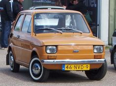 Classic Sports Cars, Classic Cars, Fiat 126, Smart Car, Old Cars, Industrial Design, Vehicles, Vintage Cars, Motorbikes