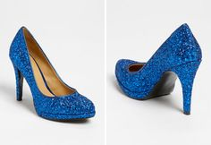 Something Blue Wedding Shoes - sparkly sapphire heels from Nordstrom