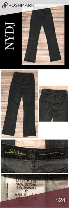 NYDJ Not Your Daughter's Jeans 8 X 32 Black Jeans NYDJ Not Your Daughter's Jeans 8 X 32 Bootcut Tummy Tuck Black Jeans Size 8