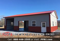 Pioneer Pole Buildings - Leader in the Pole Building Industry Garage Loft, Dream Garage, Metal Siding, Metal Roof, Shed Storage, Camper Storage, Garage Design, House Design, Utility Sheds