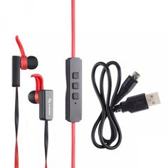 Steren Bluetooth Sports Earbuds with Microphone Noise Cancelling Slim Line Cable