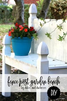 Use fence posts and