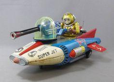Super Jet Nomura Battery Operated Toy Yonezawa Free Shipping