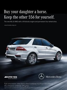 More fire less fuel amg print ads pinterest cars for Mercedes benz print ads