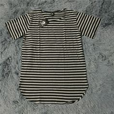 HZIJUE hip hop streetwear hipster kpop plus size mens big and tall striped extended t shirt mens extra long longline t shirts