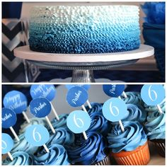 Blue Ombre Birthday Party via House of Rose