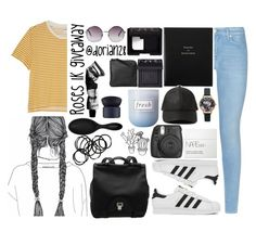 """Roses 1K giveaway"" by dorian28 ❤ liked on Polyvore featuring 7 For All Mankind, adidas, Monki, Smythson, Fresh, NARS Cosmetics, Aesop, Sephora Collection, Xenab Lone and Olivia Burton"