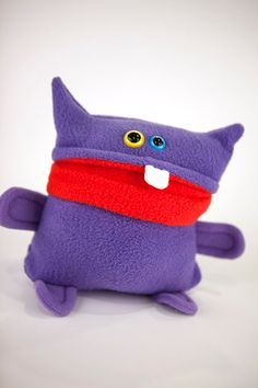 Purple Plush Monster Guy by A Monster to Love
