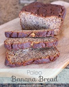 Recipe: Super Moist Paleo Banana Bread ... I would delete the agave syrup and maybe add 2T raw local honey or Grade B organic maple syrup instead.