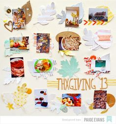Awesome scrapbook page by Paige Evans. Dig the eclectic mixture of elements.