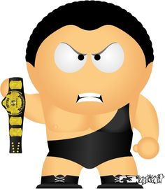 Andre The Giant by bizklimkit on DeviantArt South Park Wrestling, Ecw Wrestling, Andre The Giant, Favorite Pastime, Professional Wrestling, Wwe Superstars, Cartoon Drawings, Caricature, Mickey Mouse