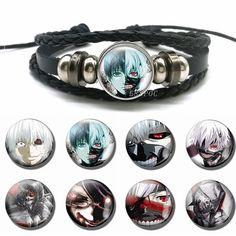 Anime Tokyo Ghoul Polyuréthane Cuir Bracelet Bracelet cosplay Kaneki Ken Handchain