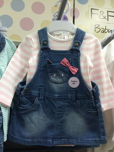 Tesco Baby SS16 Baby Girl Jeans, Girls Jeans, Doll Clothes Patterns, Clothing Patterns, Baby Girl Items, Cute Baby Boy Outfits, Toddler Girl Style, Old Jeans, Girls Rompers