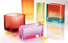 Moser glass vases