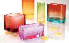 Moser glass vases
