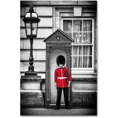 Trademark Fine Art Queen's Guard London Canvas Art by Philippe Hugonnard, Size: 22 x 32, Black