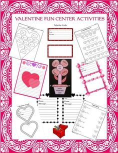 Valentine Fun Center Activities are a fun way for your students to celebrate Valentines Day.  Included are 5 center activities that are great for Kindergarteners and First Graders.