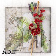 Scrap Made in Touraine: 50 - A.B. Studio Flower Power, Studio Scrap, Dreamland, Scrapbook, Craft, Happy Birthday, Diy, Paper, Projects