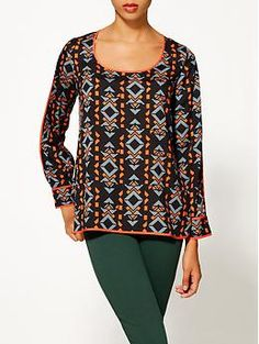 Collective Concepts Geo Print Blouse | Piperlime