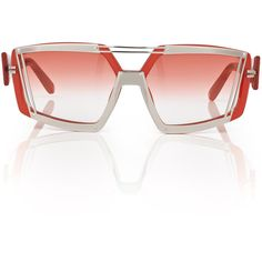 Prabal Gurung Transluscent Red Gradient Sunnies ($442) ❤ liked on Polyvore featuring accessories, eyewear, sunglasses, mirror sunglasses, mirror aviator sunglasses, acetate aviator sunglasses, red sunglasses e red mirror sunglasses