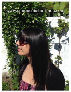 Long hair with bangs #simonconstantinou #longhair #bangs #fringe #brunette