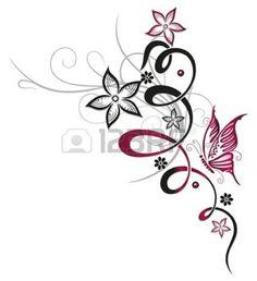 Ranke mit Blumen und Schmetterling Tendril with blossoms and butterfly Pink Ranke mit Blumen und Schmetterling Tendril with blossoms and butterfly Pink Christine Krahl Tattoo Ideas from Christine Krahl nbsp hellip Bild Tattoos, Cute Tattoos, Leg Tattoos, Beautiful Tattoos, Body Art Tattoos, Small Tattoos, Sleeve Tattoos, Ribbon Tattoos, Butterfly Tattoo Designs