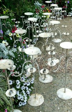 Wedding candelabras, vintage finish with Annie Sloan's dark wax,  by Imperfectly Perfect xx