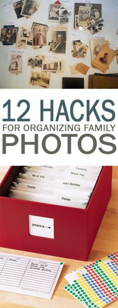 12 Hacks for Organizing Family Photos - 101 Days of Organization