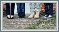 Military quote with family picture