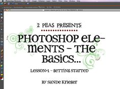 Photoshop Elements - The Basic Tutorials