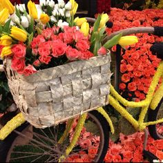 This flower covered bicycle is on the City of Torrance Rose Parade Float in Pasadena. (photo taken with my iPhone, no editing)