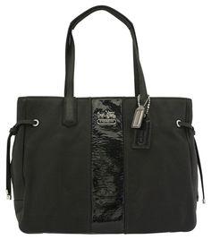 Coach black handbag, tote