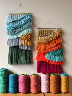 Items similar to Waves - weaving by maryanne moodie on Etsy Weaving Wall Hanging, Weaving Art, Tapestry Weaving, Loom Weaving, Hand Weaving, Wall Hangings, Art Macramé, Yarn Wall Art, Macrame Art
