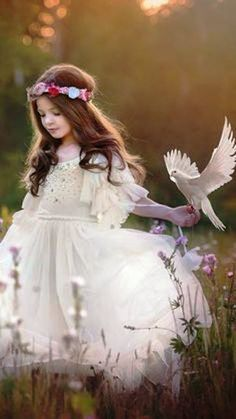 I asked of his [Jung's] first impressions of the anima and he said it came in his dream of the white dove when the little girl stood beside him; she was like his eldest daughter. ~E.A. Bennet, Meetings with Jung, Page 189