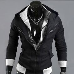 Sweatshirt hoodie Sweat à capuche Gilet outwear Sport Men fashion Noir