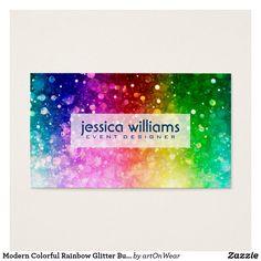 Modern Colorful Rainbow Glitter Burst