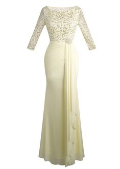 Half Sleeve Sequin See Through Formal Party Long Evening Dresses Champagne Prom Dress