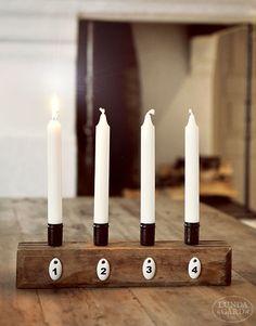 Gör en egen adventsljusstake som passar just ditt hem. Här får du inspiration från sju fina ljusstakar