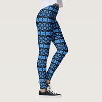 Leggings with Abstract Computer Art and Patterns by Sergio Schnitzler aka Yio - Multimedia. Printed by Zazzle and Society6